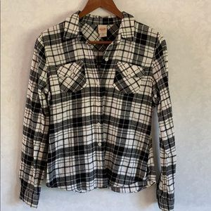 Mossimo Plaid Flannel Button down Top